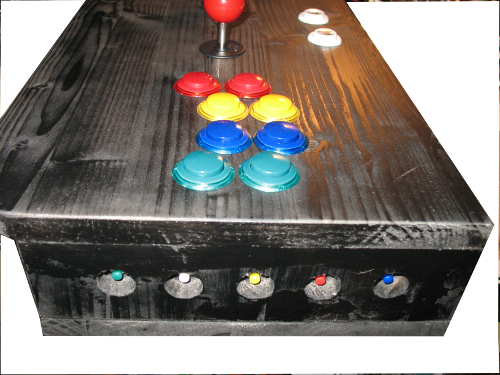 Arcade controller side mini push button switches